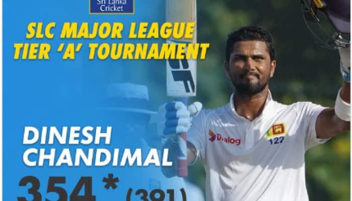 Dinesh Chandimal scores highest unbeaten 354 for Sri Lankan Army