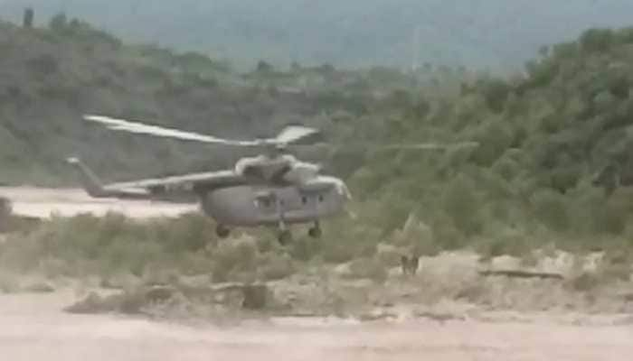IAF saves the day, rescues stranded man from rain-battered Naushera in Jammu and Kashmir's Rajouri