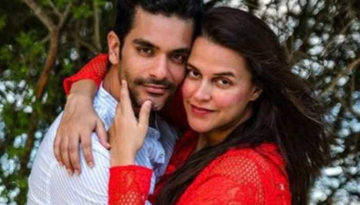 'Hottie' Neha Dhupia gets a romantic birthday wish from husband Angad Bedi, see pics