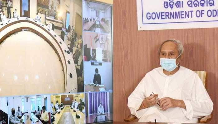 Odisha CM Naveen Patnaik holds review meeting over COVID-19, flood situation