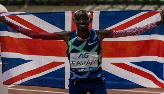 Mo Farah marks return to track in style by breaking one-hour record at Brussels Diamond League