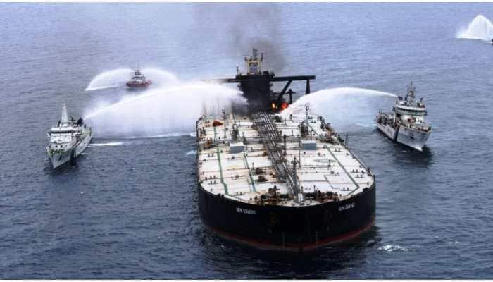 MT New Diamond Fire off Sri Lanka coast: No oil spill reported, cargo hold safe
