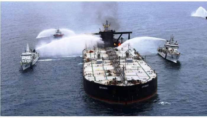 Oil slick near MT New Diamond is from explosion, not cargo hold, say sources