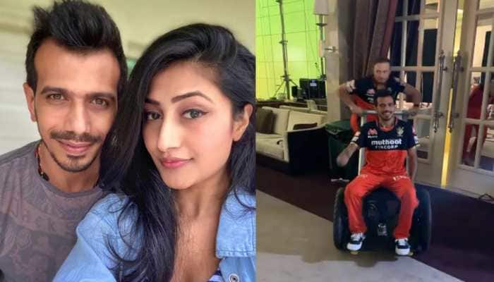 Yuzvendra Chahal shares funny video with AB de Villiers, fiancé Dhanashree Verma comes up with hilarious reply