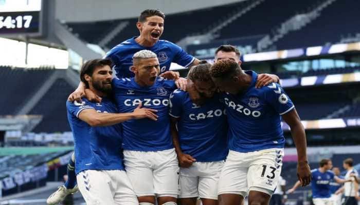 Premier League: Everton beat Tottenham for first time since 2012 as Calvert-Lewin heads winner