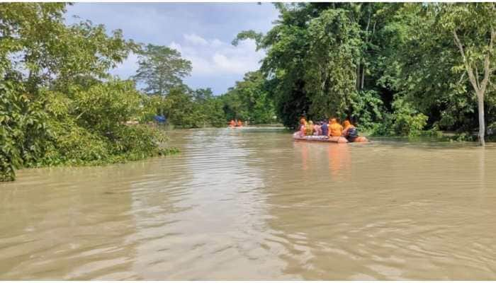 Fresh floods across four Assam districts affect over 34,000 people, kill one