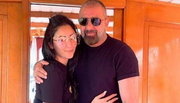 Sanjay Dutt and wife Maanayata leave for Dubai ahead of his cancer treatment - Pics
