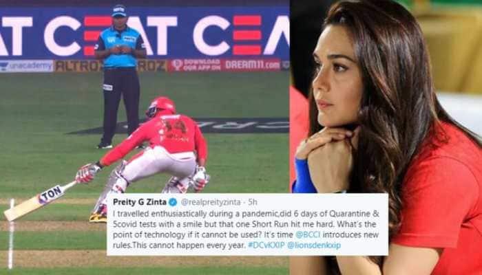 Preity Zinta fumes as umpiring mistake costs Kings XI Punjab their game against Delhi Capitals in IPL 2020