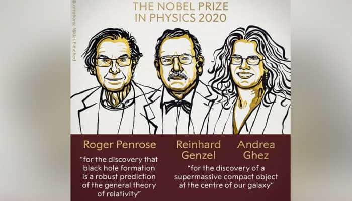 Nobel Prize 2020 in Physics jointly awarded to scientists Roger Penrose, Reinhard Genzel and Andrea Ghez
