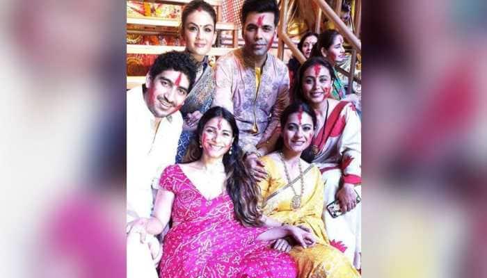 Durga Puja special album: A look at how Kajol, Rani Mukerji, Sushmita Sen and other stars celebrate the festival