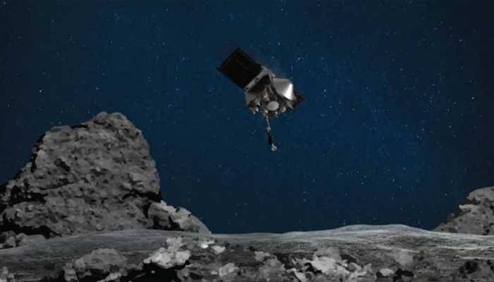 NASA's Osiris-Rex collects samples from asteroid Bennu