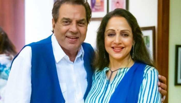 Dharmendra, Hema Malini's pics from her birthday celebrations leave fans awestruck