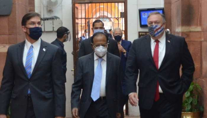 Ahead of India-US 2+2 ministerial dialogue, NSA Ajit Doval meets Mike Pompeo, Defence Secretary Mark Esper