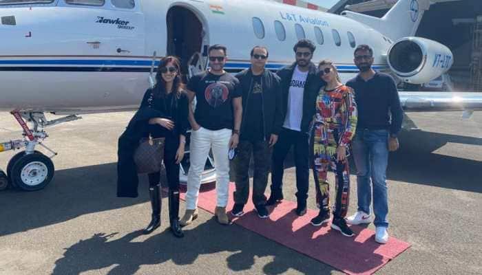 Saif Ali Khan, Arjun Kapoor, Jacqueline Fernandez and Yami Gautam head to Dalhousie for 'Bhoot Police' shoot- In pics