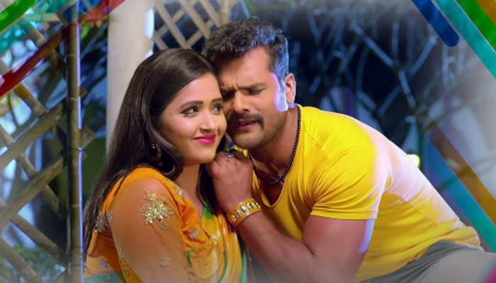 Khesari Lal Yadav and Kajal Raghwani's sizzling chemistry in viral Bhojpuri song Whatsapp Ke Message Banke Dhaniya sets YouTube on fire - Watch
