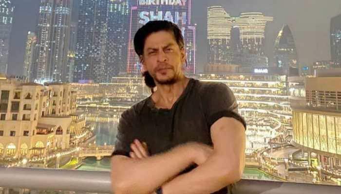 Dubai's Burj Khalifa lights up for Shah Rukh Khan's birthday, Suhana Khan and Karan Johar celebrate with him