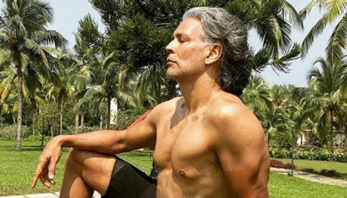 Milind Soman goes full monty on birthday, runs naked on the beach! | People  News | Zee News