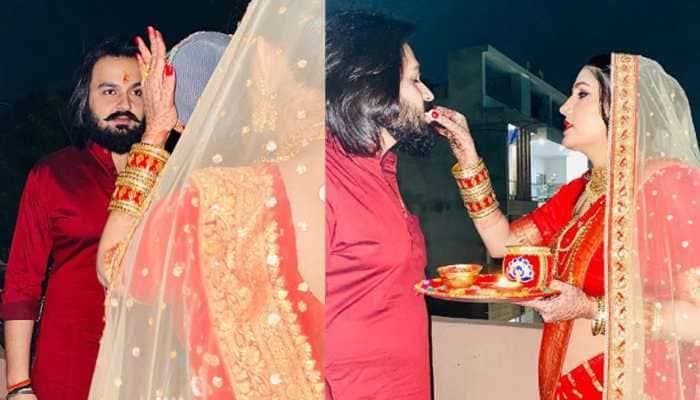 Sapna Choudhary's first pics with hubby Veer Sahu go viral on social media, fans ask 'Shaadi Kab Hui'?