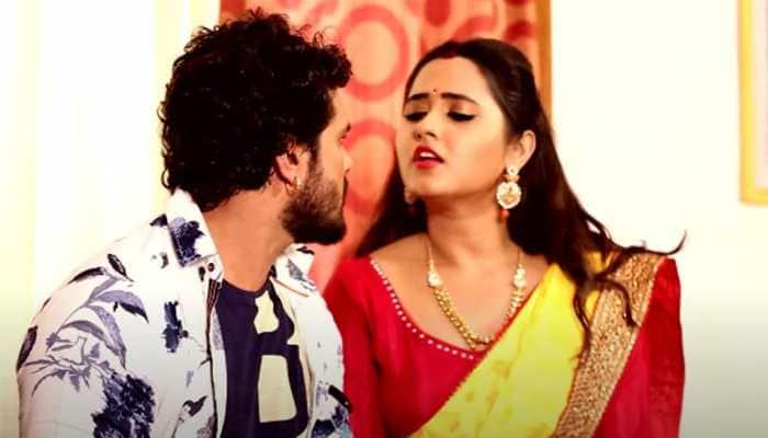 Khesari Lal Yadav-Kajal Raghwani's viral Bhojpuri song 'Sutala Tani Kora Mein' shows their sizzling chemistry - Watch