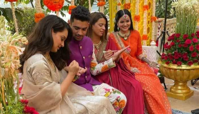 Kangana Ranaut's brother Aksht's pre-wedding festivities begin in Udaipur, see inside pics
