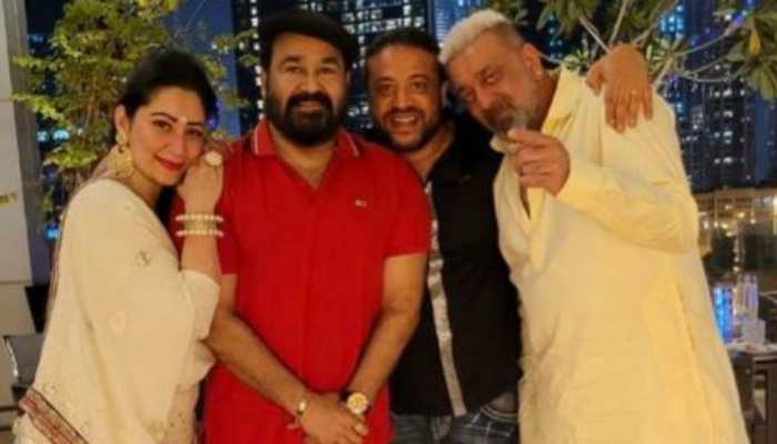 Viral pics from Mohanlal, Sanjay Dutt and Maanayata's Diwali celebrations in Dubai