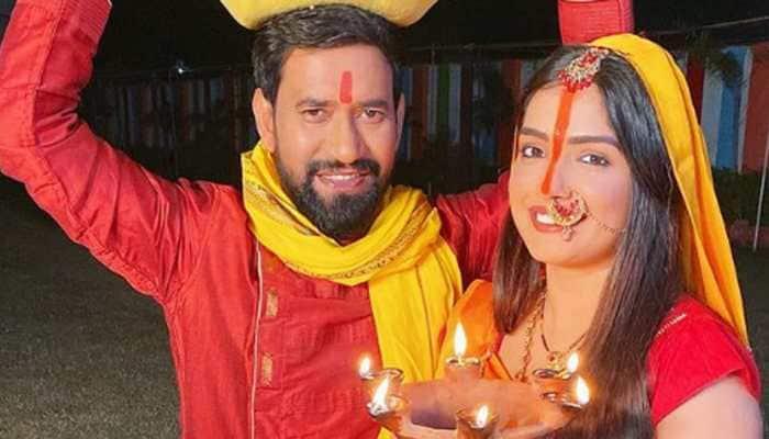 On Chhath Puja 2020, Bhojpuri stars Nirahua, Aamrapali Dubey, Anjana Singh wish fans, share pics!