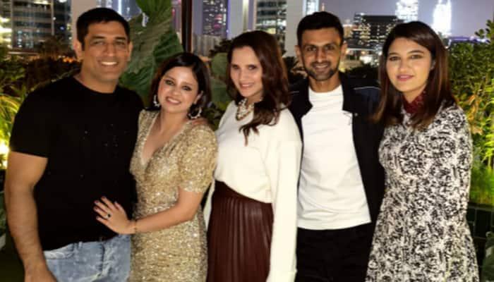 MS Dhoni celebrates wife Sakshi's 32nd birthday with Sania Mirza, Shoaib Malik in Dubai