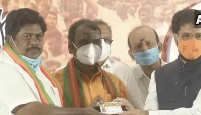 Former DMK MP KP Ramalingam joins BJP