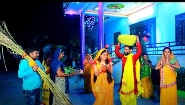 Chhath Geet 2020: Aamrapali Dubey releases new Bhojpuri song Chala Chhathi Ghate, starring Dinesh Lal Yadav Nirahua - Watch