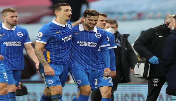 Premier League: Brighton & Hove Albion snap winless streak with 2-1 triumph at Aston Villa