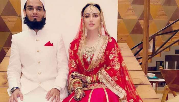 Sana Khan introduces husband Anas Sayied on Instagram, new pic from wedding goes viral