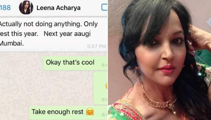Actor Abhishek Bhalerao posts last WhatsApp chat with Leena Acharya, calls her 'beautiful soul'