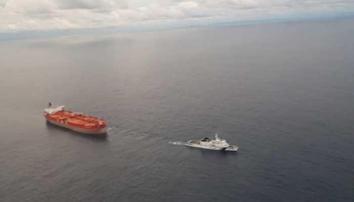 Indian Coast Guard averts mishap off Nicobar, tows drifting oil tanker