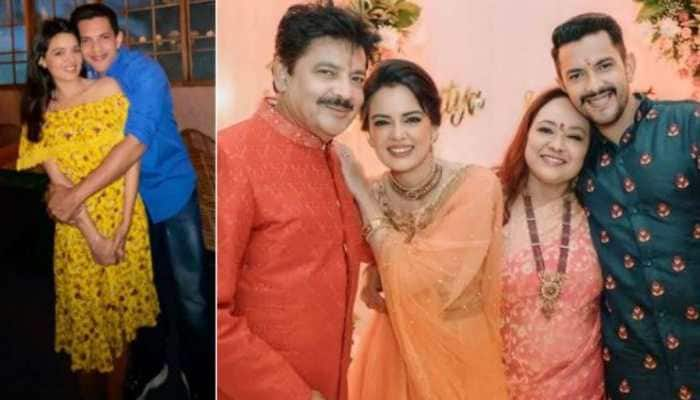 Pics from Aditya Narayan and Shweta Agarwal's pre-wedding rituals break the internet!