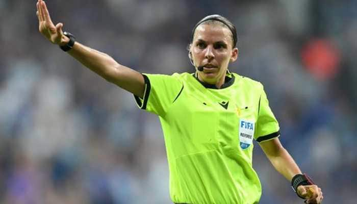 France's Stephanie Frappart becomes 1st woman to referee in men's Champions League tie