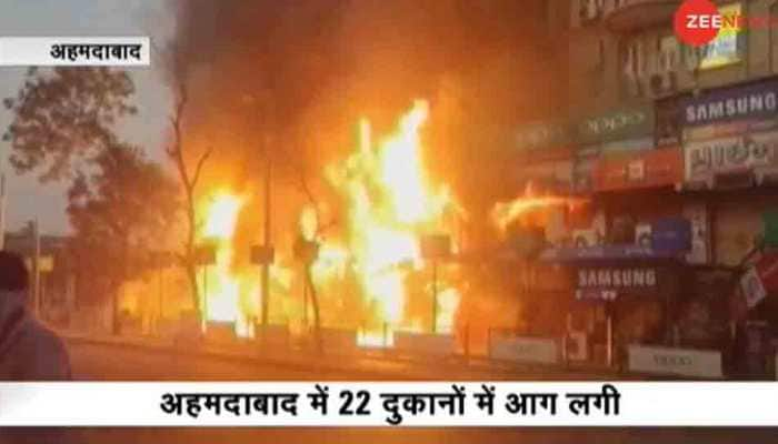 Massive fire breaks out at shopping complex in Ahmedabad's Bapunagar; 22 shops gutted — Know what led to mishap