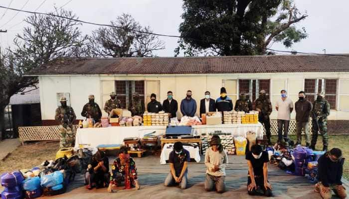 Assam Rifles unearth narcotics and contraband worth over Rs 165 crore during raid in Manipur's Moreh