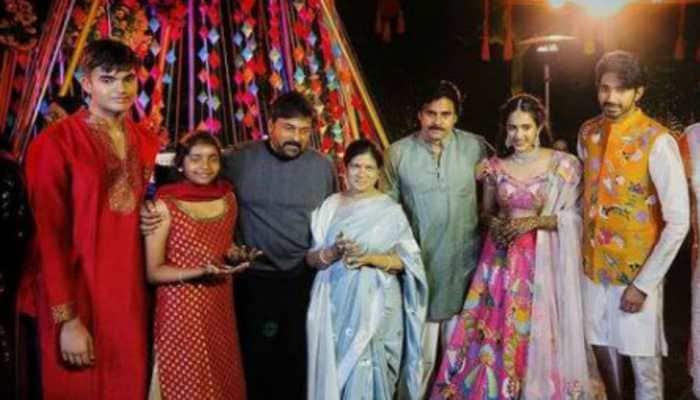 At Niharika Konidela and Chaitanya JV's pre-wedding rituals, Pawan Kalyan's son Akira Nandan steals spotlight