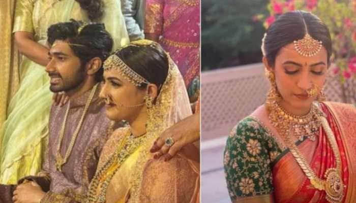 Niharika Konidela marries Chaitanya JV in Udaipur, see viral pics