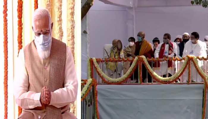 PM Narendra Modi lays foundation stone of new Parliament building near India Gate