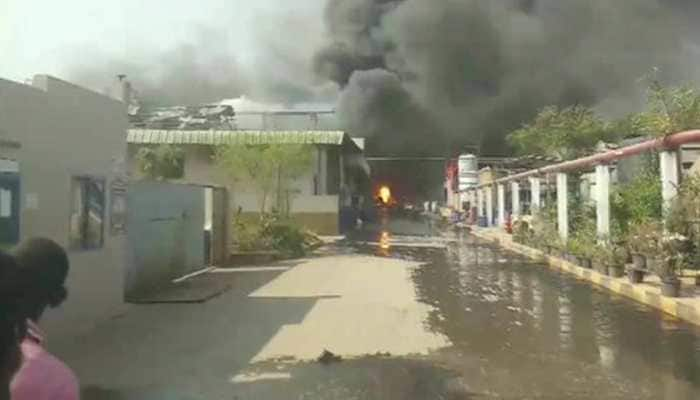 Eight workers hospitalised after massive fire breaks out at chemical factory in Hyderabad