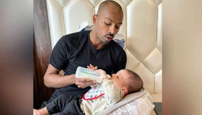 From national duty to father duty: This pic of Hardik Pandya with son Agastya wins the internet!