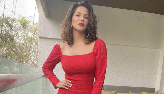 Sunny Leone's bewitching look in red ups the hotness quotient on social media - Check out!