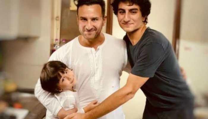 Pic of Kareena Kapoor's 'favourite boys' Saif Ali Khan, Taimur and Ibrahim lights up the internet!