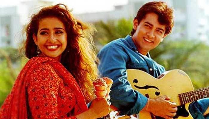 In this major throwback pic from 1995, can you spot Aamir Khan and Manisha Koirala?