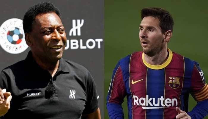 Pele congratulates Lionel Messi for equalling his goal-scoring record for single club