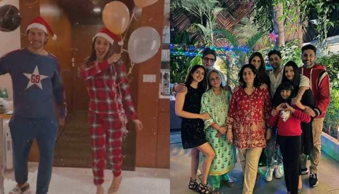 Priyanka Chopra, Kiara Advani, Varun Dhawan, Amitabh Bachchan channel the Christmas spirit; see pics