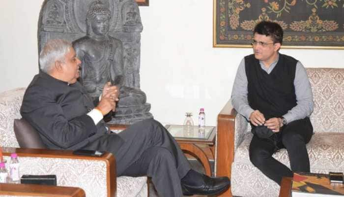 Sourav Ganguly raises speculations as he meets West Bengal Governor Jagdeep Dhankhar ahead of state polls