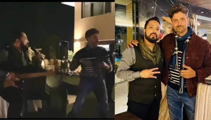 Hrithik Roshan croons 'Ek Pal Ka Jeena' at New Year bash, video goes viral! Watch