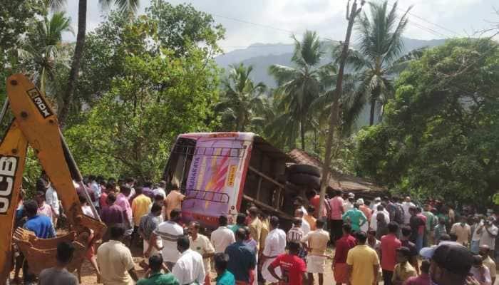 Wedding bus from Karnataka falls on house in Kerala's Kasaragod, 6 killed